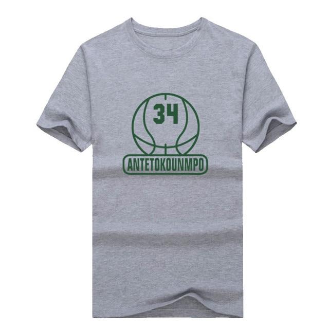 2017 Men Milwaukee 34 Giannis Antetokounmpo T-shirt Clothes Short Sleeve Bucks T SHIRT Men's Fashion W0106005