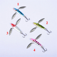 Double Meat Leaf Winter Ice Fishing Lures Bait 7g/50mm Mini Lead Head Wobbler Lake Sea Metal Jigging Baits