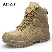 9f1dda8d Botas militares de combate JICHI para hombre, botas de tobillo Chukka, botas  tácticas de