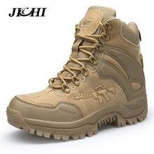 JICHI Men's Military boot Combat Mens Chukka Ankle Boot Tact
