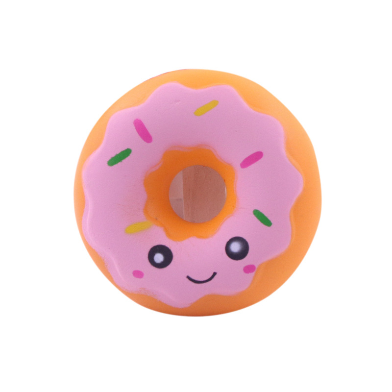 Lovely Doughnut Cream Scented Squishy Slow Rising Squeeze Anti Stress Soft Toy Funny Gadgets Kawaii Squishies Oyuncak Donut