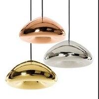 도매 드롭 램프 현대 도금 구리 그릇 조명 유리 빵 매달려 램프 조명기구 잉글랜드 톰 디자인 펜던트 라이