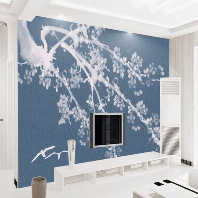 . Wall Mural Ideas Custom Photo Wallpaper Fresh and Elegant Hand Painted Plum  Bird Restaurant Wall Paper Boys Room Decor Study