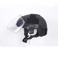 NIJ уровень IIIA 3A aramid пуленепробиваемый шлем с Тактический шлем для пейнтбола козырек Набор щитов сделки для США армейский шлем