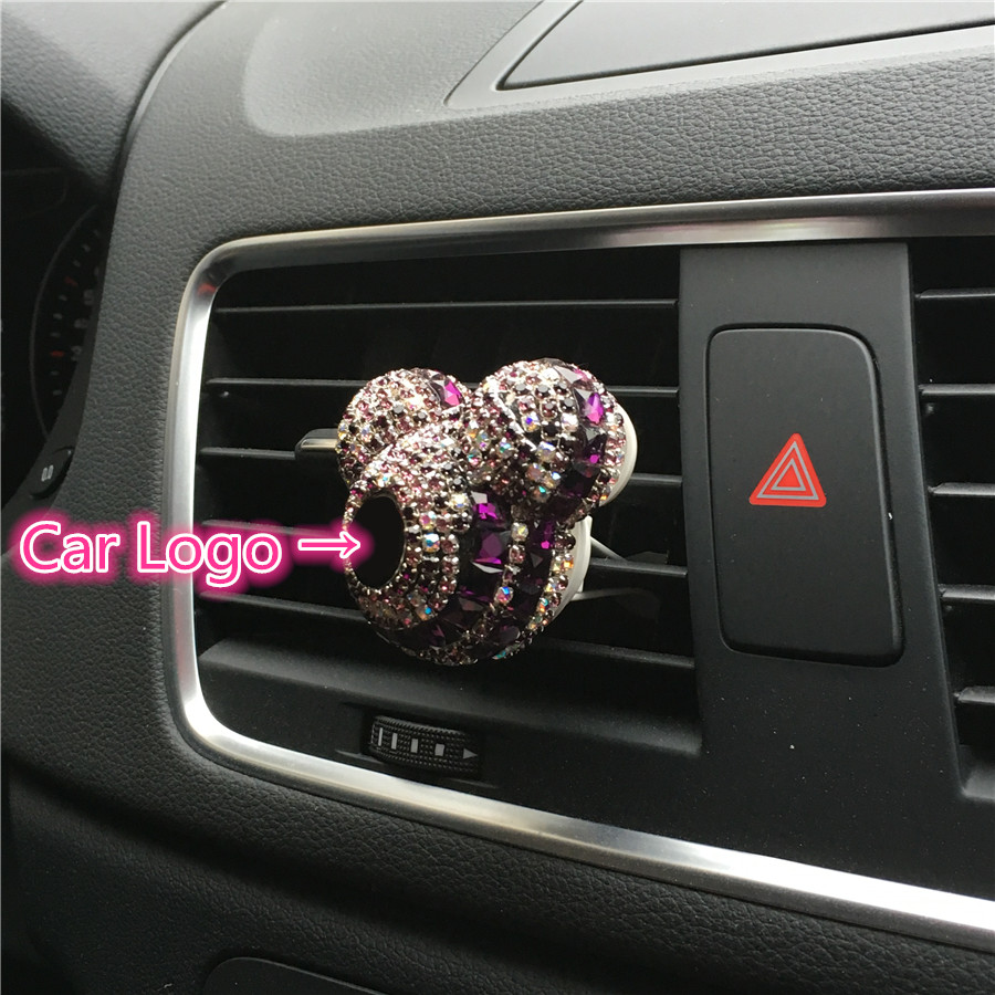 Logo car perfume Air conditioner Outlet perfume automobile decoration Car Air Freshener Car Styling Perfumes 100 Original
