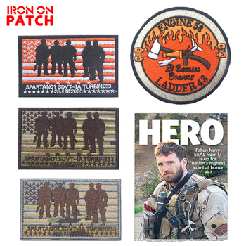 El Barriss Engine 53 Ladder 43 SEAL TEAM Operation Red Wings Lone Survivor Embroidery patch Hook Badges for clothes military image