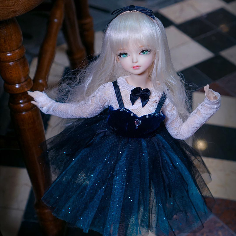 Fortune Days for 1/4 BJD Doll 45cm Highly fantasy Shiny Star Evening Dress Set Accessories High Quality Blyth Toy Gifts