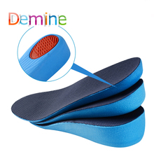 Demine PU Height Increase Insoles Invisible Cushion Lift Adjustable Cut Shoe Heel Pad Taller Inserts for Women Men Unisex