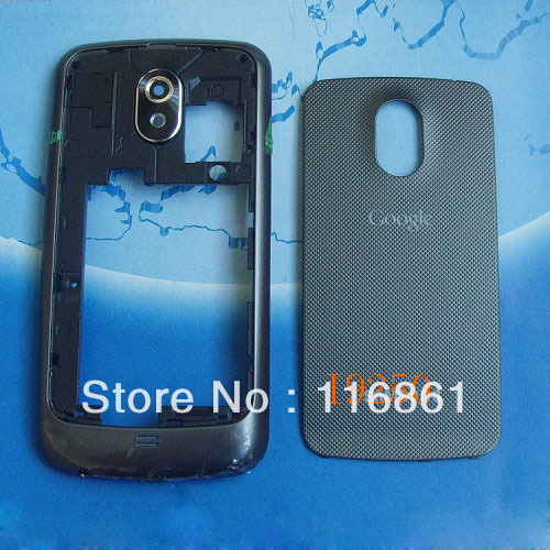 Hot Sell wholesale Galaxy Nexus i9250 Housing Cover Case back frame+battery door cover Original black