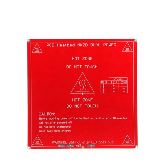 Dual power 12V 24V Heating bed RepRap 3D Printer 214x214 Heatbed MK2B PCB Hot Plate hotbed