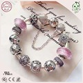 Good Quality Hot Sale New Arrival Pink Series 925 Sterling Silver Constellation Charm Bracelet