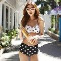 The New South Korean cute bra flounce steel support small chest swimwear bikinis two piece swimsuit