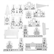 OOTDTY Witchs Castle Metal Cutting Dies Stencil DIY Scrapbooking Album Stamp Paper Card Embossing Crafts Decor