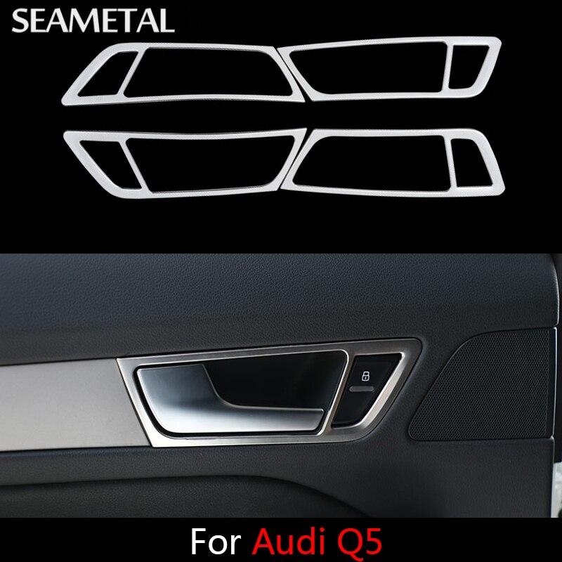 Prix pour Pour Audi Q5 2009 2010 2011 2012 2013 2014 2015 voiture Porte Bol Poignée Cadre Couvre Frontière Intérieur Auto Décoration voiture-style