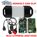 Powerful CYPRESS AN2135SC Full Chip Renault Can Clip Newest V160 Multi-Language Renault Auto Diagnostic Interface Can Clip BEST