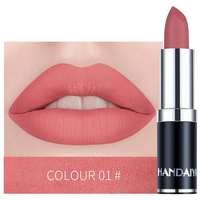 HANDAIYAN Brand Professional Lips Makeup Waterproof Long Lasting Pigment Nude Pink Mermaid Shimmer Lipstick Luxury Makeup 2019