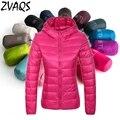 Nova marca gola mulheres ultra light para baixo inverno jaqueta com capuz parkas 2016 de pato para baixo casaco feminino fino plus size 4XL YM259
