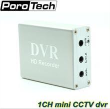 1 ערוץ מיני טלוויזיה במעגל סגור DVR HD Xbox בזמן אמת כרטיס SD תמיכת 1Ch מיני DVR לוח דחיסת MPEG 4 וידאו