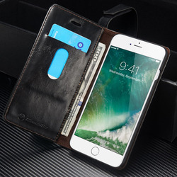CaseMe Original Brand Leather Phone Cases For Apple iphone 7 Plus case iphone 7 / 7Plus case Coque Card Wallet Protective Cover 5