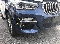 Yimaautotrims przednia głowica lampy przeciwmgielne powieki osłony na lusterka obczne wykończenia 2 sztuk/zestaw Fit For BMW X3 G01 2018 2019 2020 ABS zewnętrzne