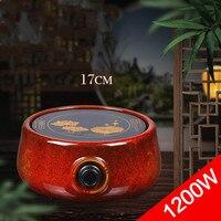 Hot Plates Red glaze electric ceramic furnace iron pot boiling tea water bubble furnace.NEW
