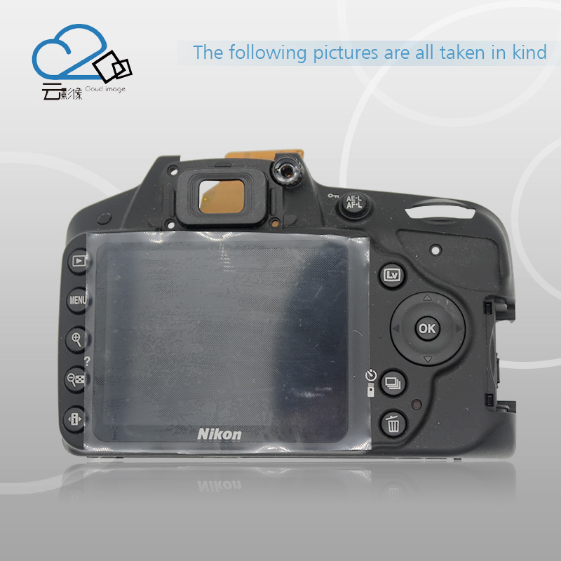 Test OK!D3200 rear back cover shell with LCD,Button,FPC Flex Cable For Nikon D3200 Camera Repair Parts free shipping test ok d750 back cover with lcd display screen back case with menu button flex cable fpc for nikon