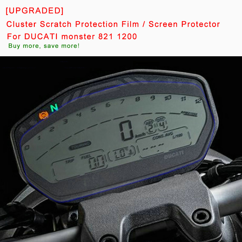 B07GHRK1J9 XKMT-Cluster Scratch Protection Film//Screen Protector Compatible With DUCATI MULTISTRADA 2015-17