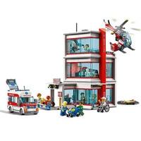 City Building Set City Hospital Urban service Building Block 964pcs Bricks Toys Compatible With Legoings 60204