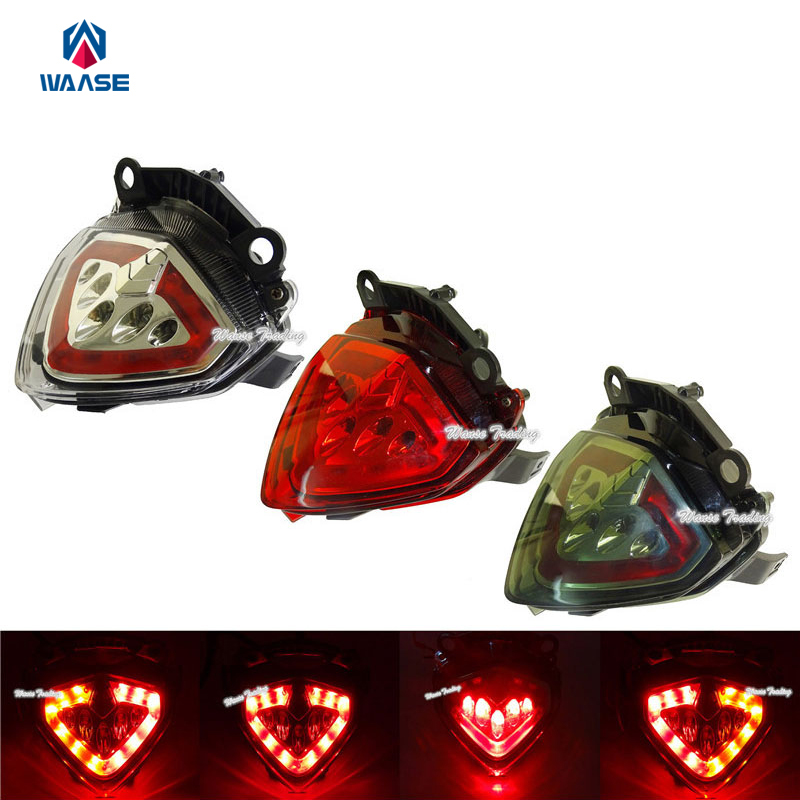waase Taillight Tail Brake Turn Signal Integrated Led Light For 2013 2014 2015 HONDA CBR500R CB500F CB500X CBR 500R CB 500F 500X for honda cb 500x cb 400x cb 500f cb 400f 2013 2014 2015 2016 2017 2018 engine frame crash bar bumper motorcycle accessories