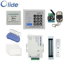 Полный комплект контроля доступа для одной бескаркасной двери