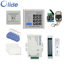 Access Control Complete Kit For Single Frameless Door With Magnetic Lock, Access Keypad,Remote control, Power Source etc direct factory with electric bolt lock keypad power supply exit switch keys door access control system kit full set