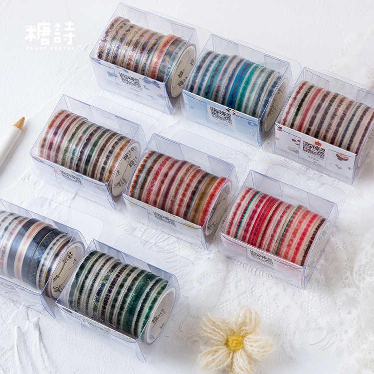 10 Pcs/lot Colour Coffee Shop Series PET Washi Tape Decorative Adhesive Tape DIY Scrapbooking Sticker Label Journal Stationery