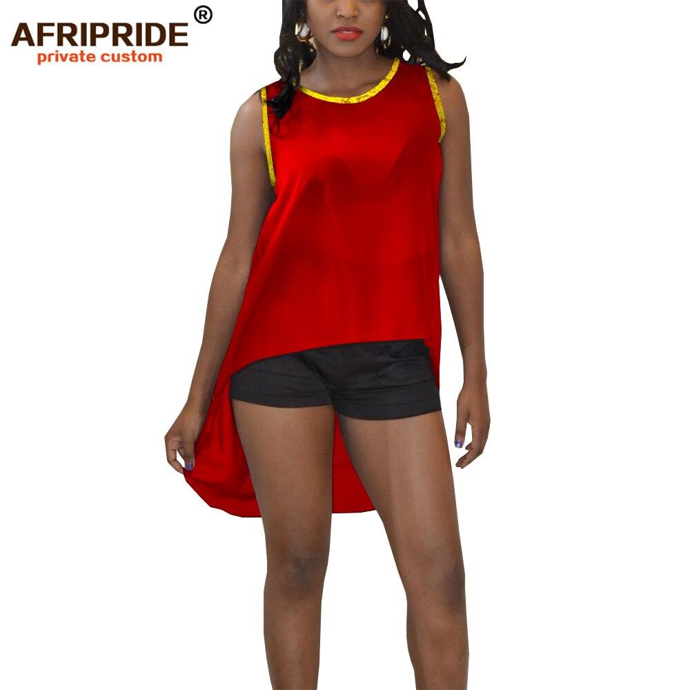 2019 vêtements africains pour femmes crop sexy hauts shein tenues rouge bleu noir blanc jaune vêtements d'été AFRIPRIDE A1922007 - 3