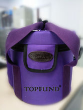 TOPFUND 10″ Crystal Singing Bowl Carrier – Heavy Duty Canvas – Purple Color