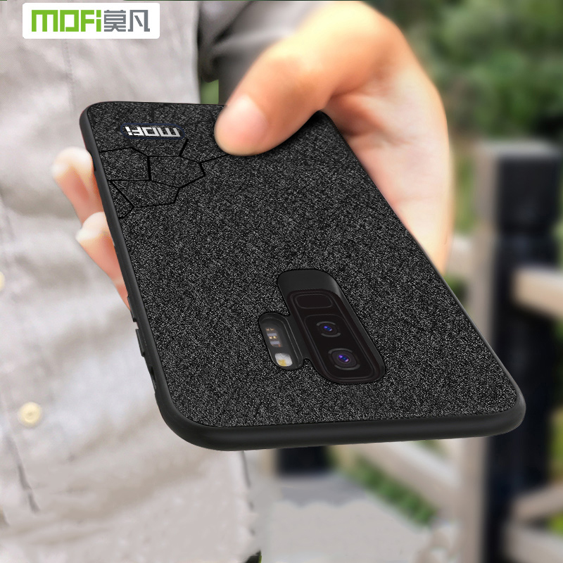 Pour Samsung Galaxy S9 plus cas pour Samsung Galaxy S9 cas couverture TPU en silicone en cuir de luxe cas Mofi pour Galaxy S9 S9 + couverture