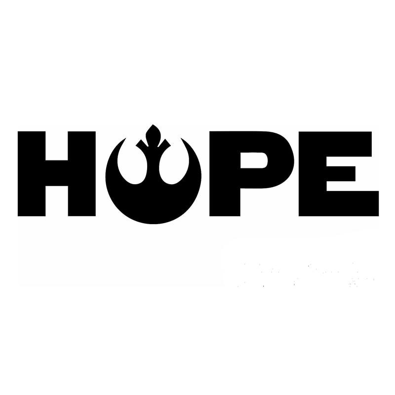 58cm X 23.2cm 2 X Star Wars Hope Funny Graphical Car Sticker Words Oem Car Door Car Body Vinyl Decal Black/sliver Etc. 13 Colors hope iiрепродукции климта 30 x 30см