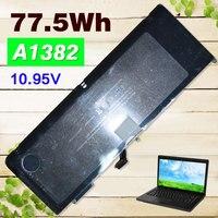 77.5Wh батареи Ноутбука Для Apple A1382 A1286 2009 Версия Для MacBook Pro 15