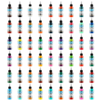 Tattoo suppliesTattoo Ink 54 Colors 1 oz 30ml/Bottle inks Pigment Kit for 3D makeup beauty skin body art Permanent makeup new