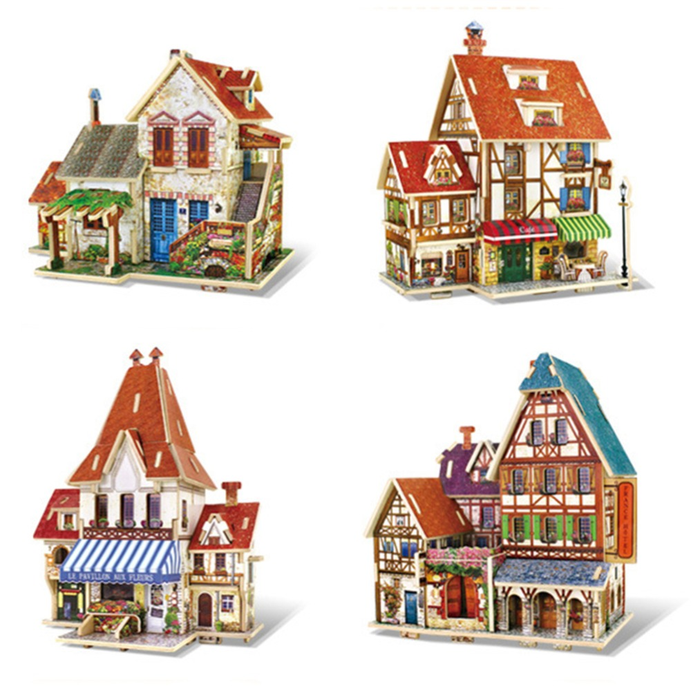 SUN & CLOUD 1 Set Educational Woodcraft Construction Kit Assemble DIY Birthday Gift French Style Home Decor 3D Wooden Puzzle Toy maikou mk524 puzzle educational wooden interlock toy birthday gift