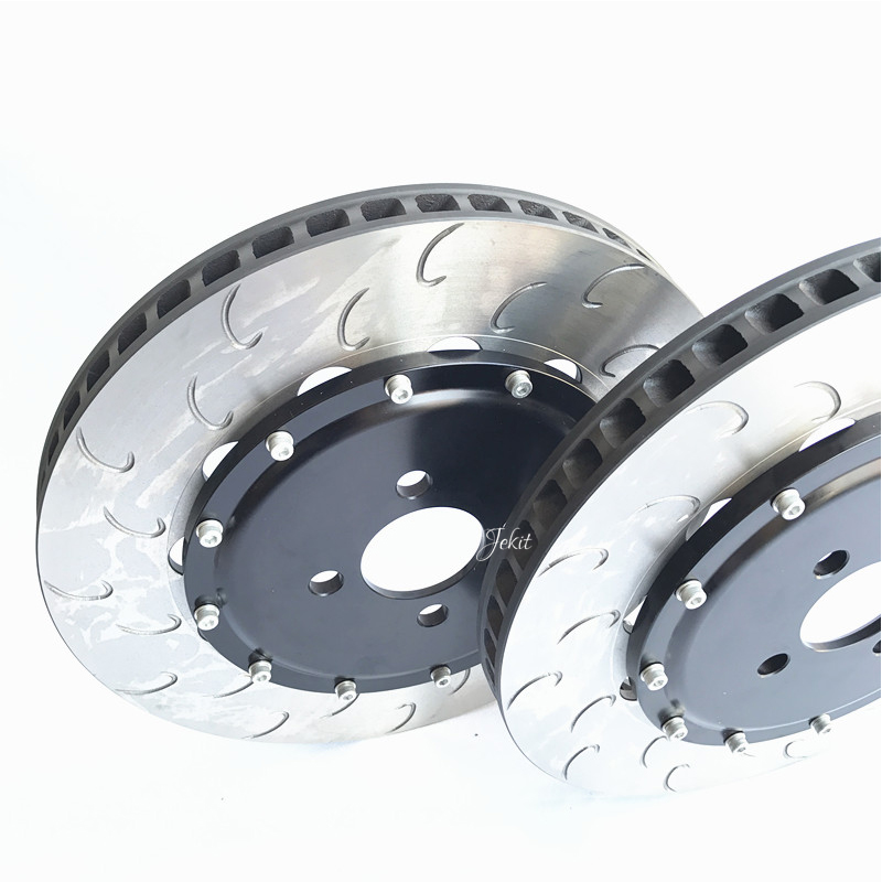 Jekit 330*28mm brake disc with center bell pcd 5*114.3 full front kit for AP9200 for Honda civic type R EP3 2003 7th generation
