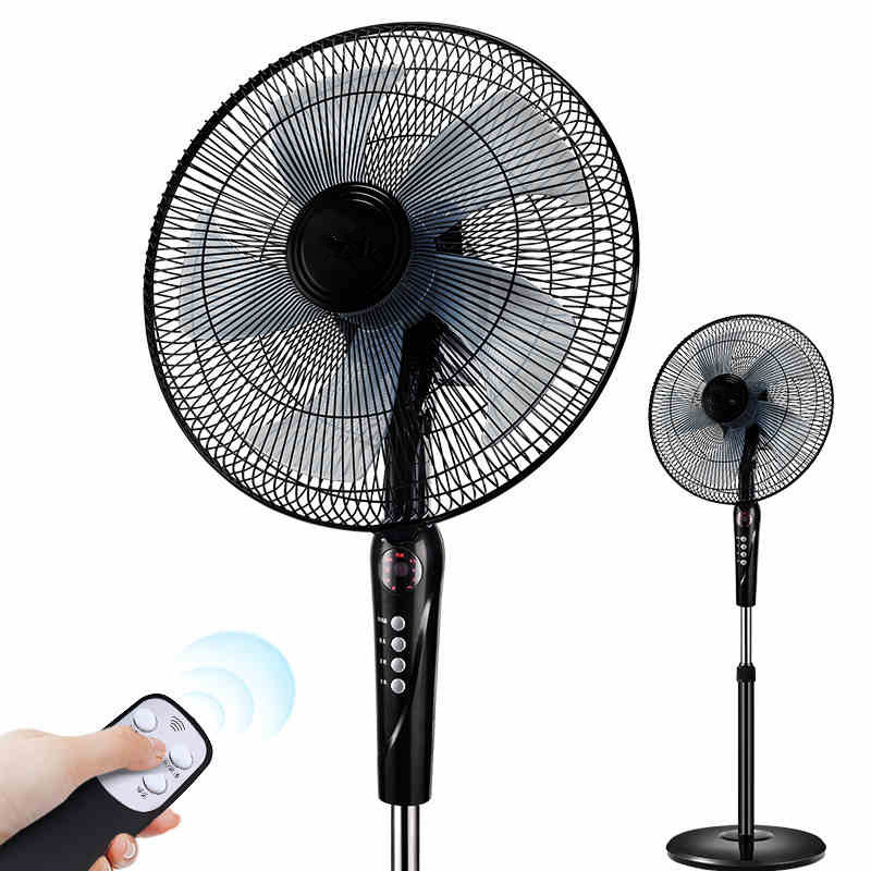 Electric Fan On A Stand : Household electric fan stand remote control mute