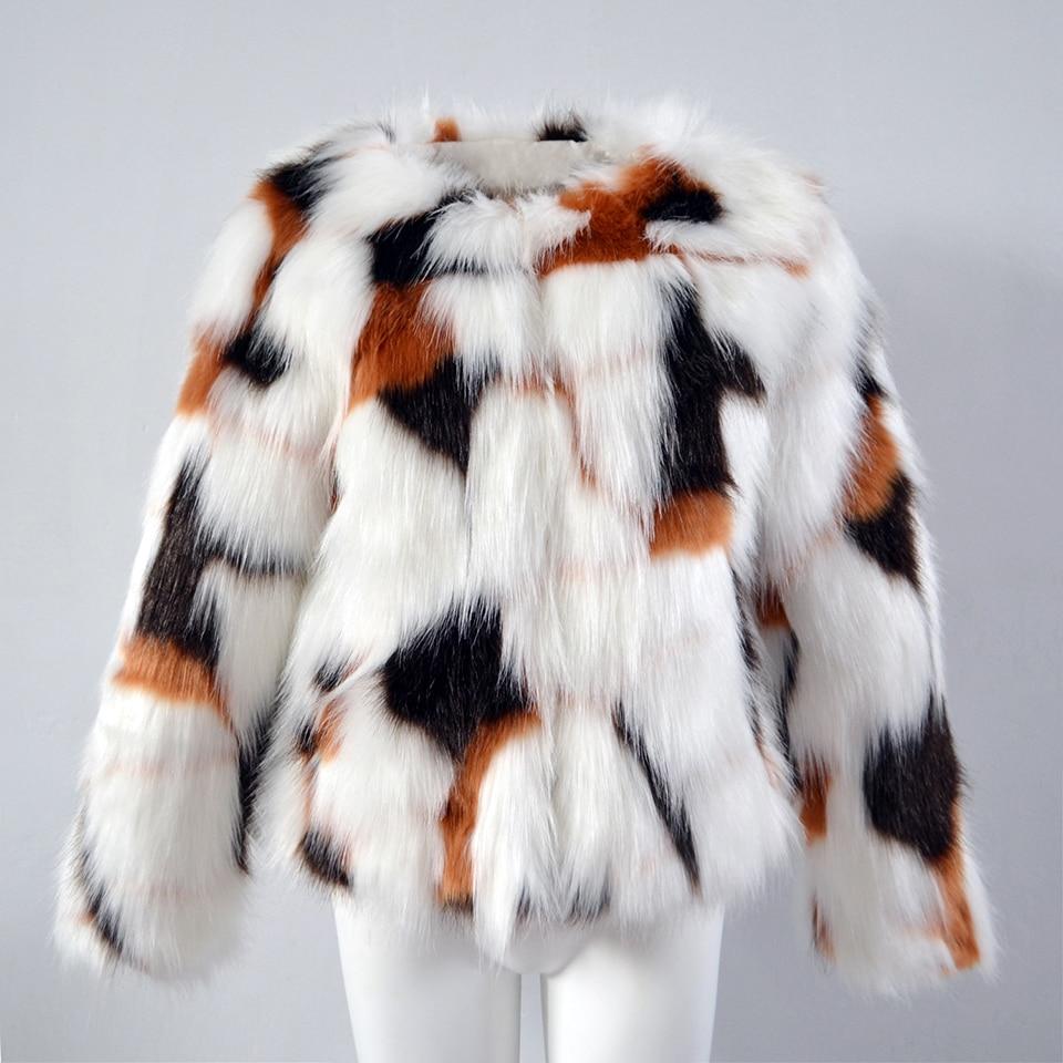End Aikooki Inverno Fur Faux Modo Beige Lunga Della Ragazza Coats High Caldo Manica Donne Spessa Outwear Di Delle Imitazione Vestiti rrO4a