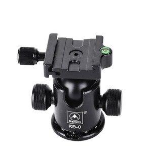 Image 4 - Manbily KB 0 كاميرا كرة ثلاثية رئيس الألومنيوم Ballhead بانورامية رئيس انزلاق السكك الحديدية رئيس ث 2 المدمج في مستويات الروح DSLR اطلاق النار