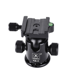 Image 4 - Manbily KB 0 kamera tripodu Topu Kafa Alüminyum Ballhead Panoramik Kafa sürgülü ray Kafa W 2 Dahili Ruhu Seviyeleri DSLR Çekim