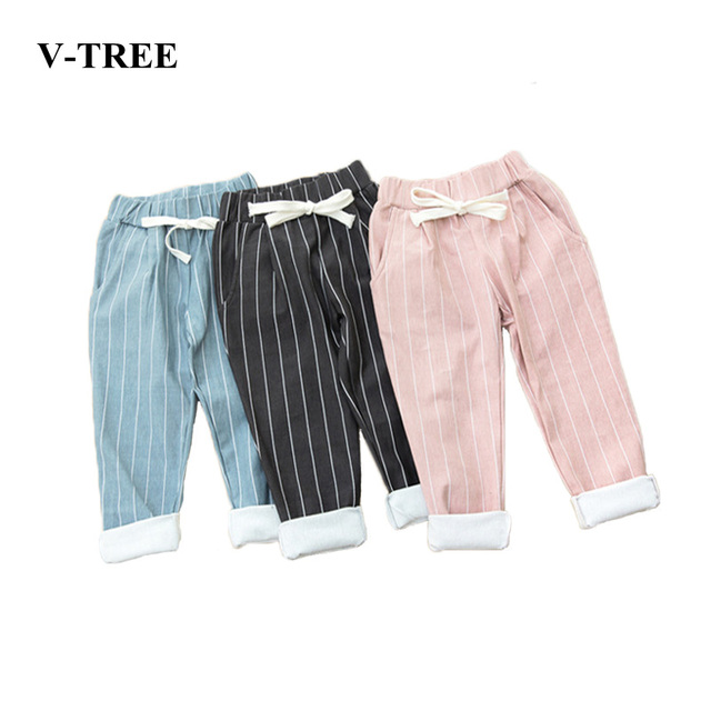 Striped Casual Trousers Baby Boy Pants For Girls Cotton Harlan Pants For Baby Girls Baby Hot Pants Spring And Autumn Kids Pants