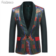 Fadzeco Traditional Cultural Wear Mens Africa Suit Jacket Clothing Fashion African Clothes Hip Hop Blazer Casual Robe Africaine(China)