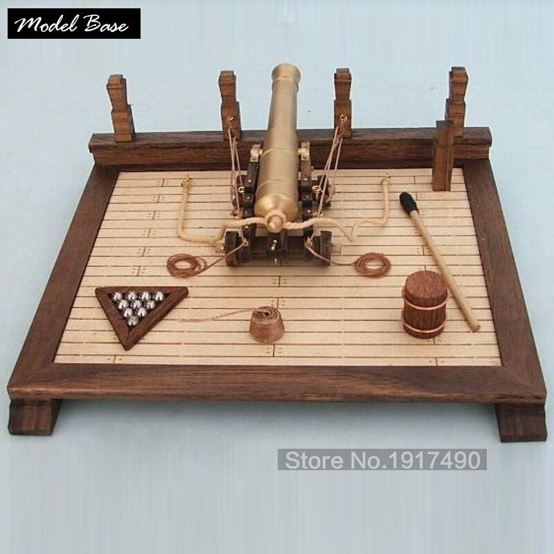 Ship Model Kit Gun Scene Hobby Wood Boat Models Ancient