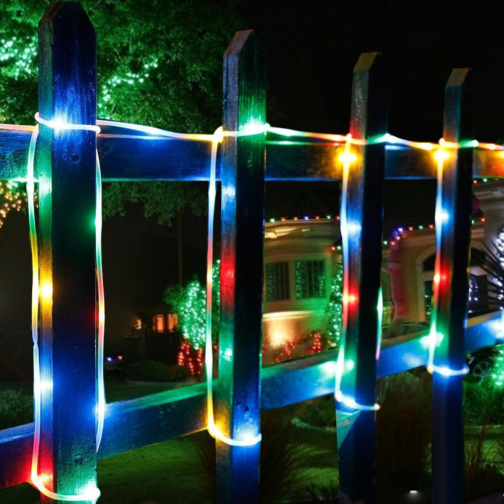 Lumiparty 10m Solar Rope Lights 100 Led Waterproof Outdoor Decoration Lighting String For Garden Christmas Tree Holiday Supplies In Lamps From