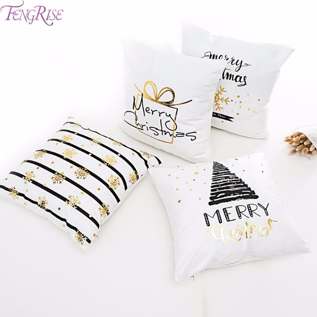 FENGRISE Merry Christmas Pillow Case Christmas Ornaments Navidad Christmas Decoration For Home Happy New Year 2019 Xmas 2018