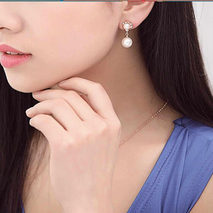 2018 joyería de moda Coreana de alta calidad pendientes de perlas de imitación Bohemia salvaje pendientes largos de borla pendientes elegantes femeninos
